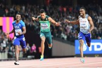 Wayde Van Niekerk wins silver in 200m at the world championships in London