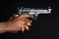 black hand gun
