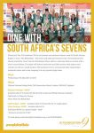Dinner With The Blitzbokke - London: supporting J9 Foundation UK