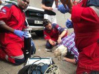 Omstrede Britse kommentator Katie Hopkins, val flou in SA