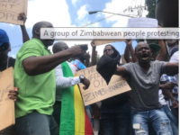 'The whole of South Africa has turned a blind eye' to the current situation unfolding in Zimbabwe - a group of around 100 protesters demonstrated outside Zimbabwe's embassy in Pretoria on Wednesday morning after a 150 percent fuel price increase was instituted