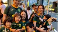 Viral video of Japan residents singing the national anthem - Japanese have adopted the Springboks and made SA proud C