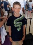 Teenager from New Zealand's forced to take off T-shirt at SA airport because there was a picture of a green snake on it